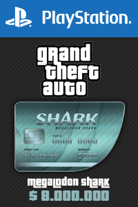 Megalodon Shark Card - GTA