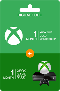 Xbox Game Pass 1 måned + Xbox Live Gold 1 måned