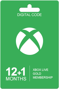 Xbox Live Gold 12+1 maneders