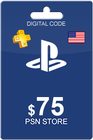 Playstation Network Card 75 USD