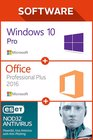 Win 10 Pro + MS Office Pro Plus 2016 1 user + ESET 12 months